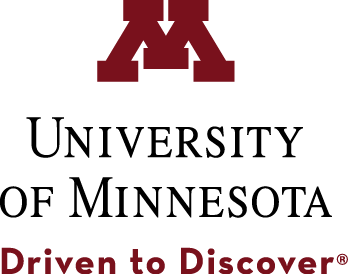 University of Minnesota logo with tagline Driven to Discover.