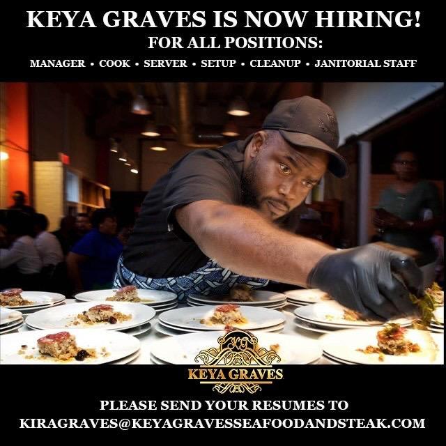 Keya Graves hiring flyer