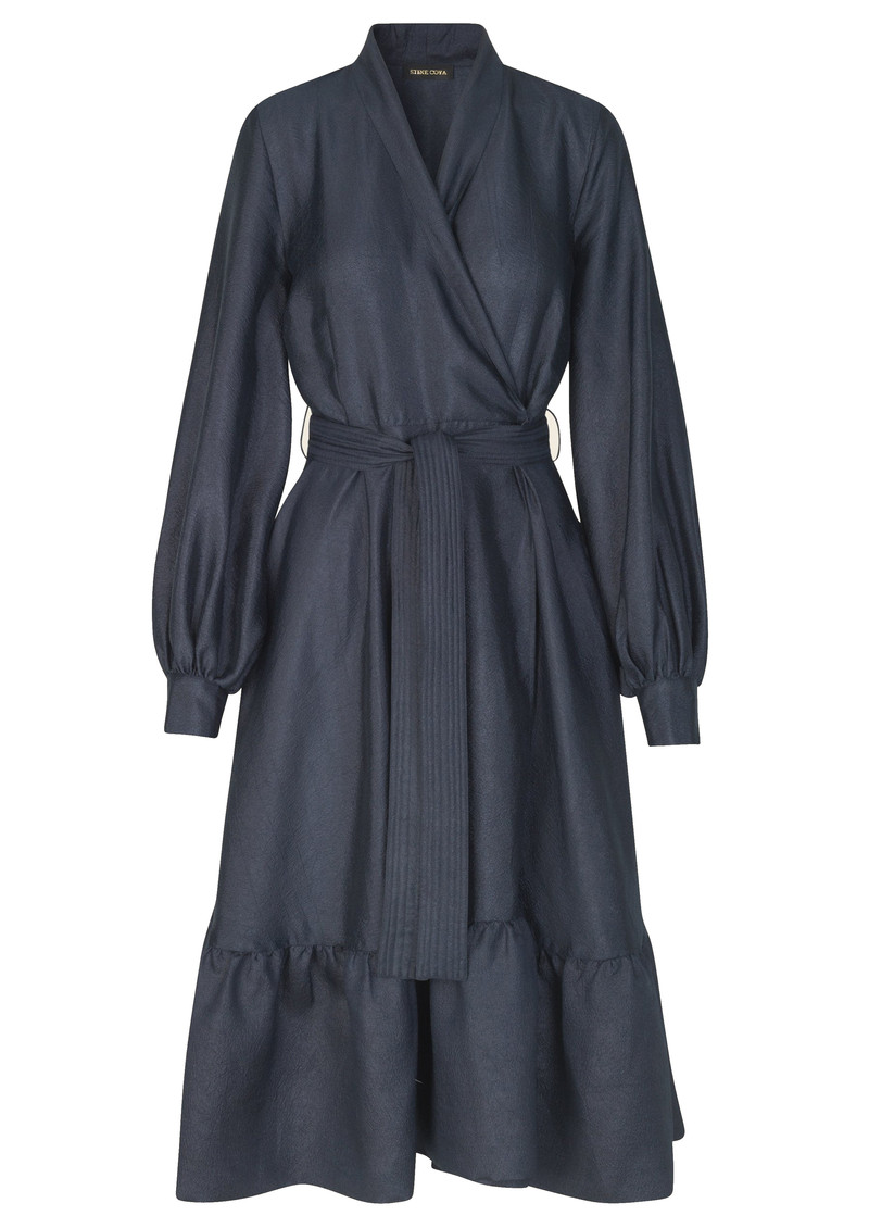 Niki Wrap Dress - Midnight blue