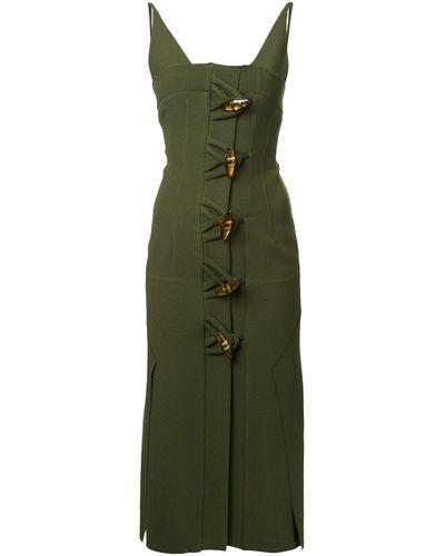 Women's Green Contoured Dual Knot Resin Dress