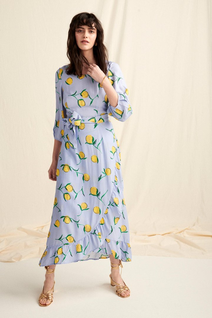 Calamity dress lemon print