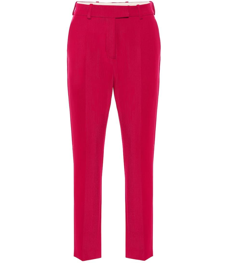 Oscar mid-rise straight wool pants