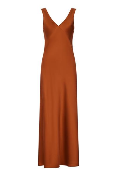 Bordeaux Rust Silk Dress