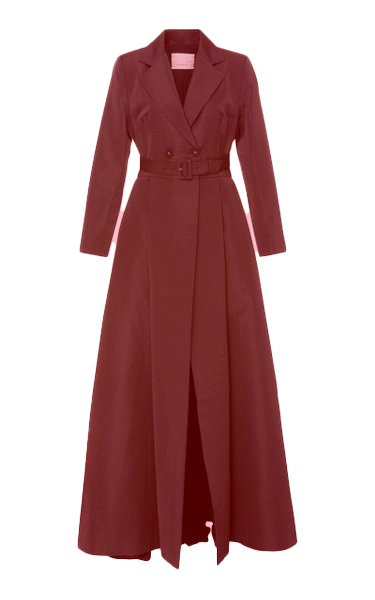 Red Tafeta Coat Gown
