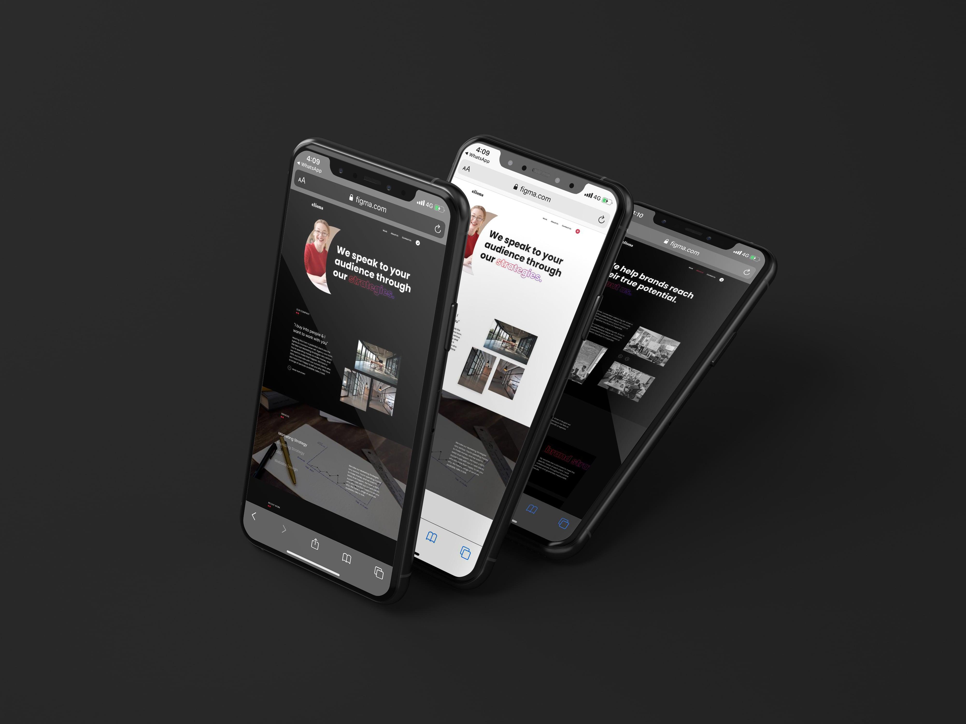 Cliona Website Mockup