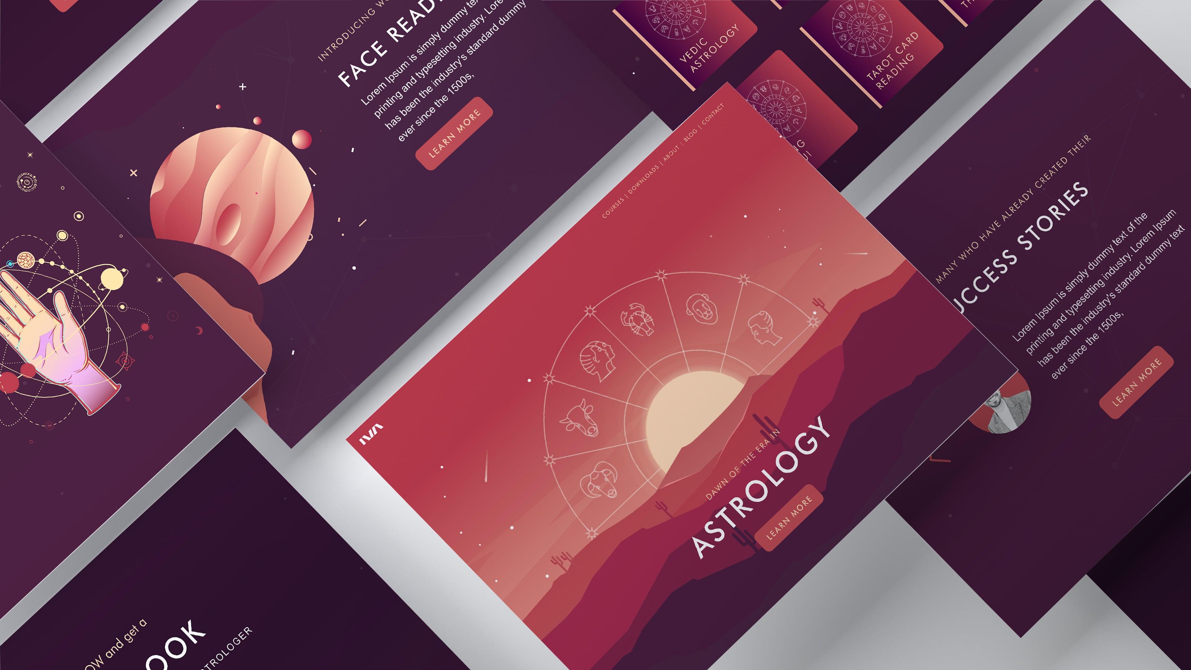 IVA Astrology Mockup