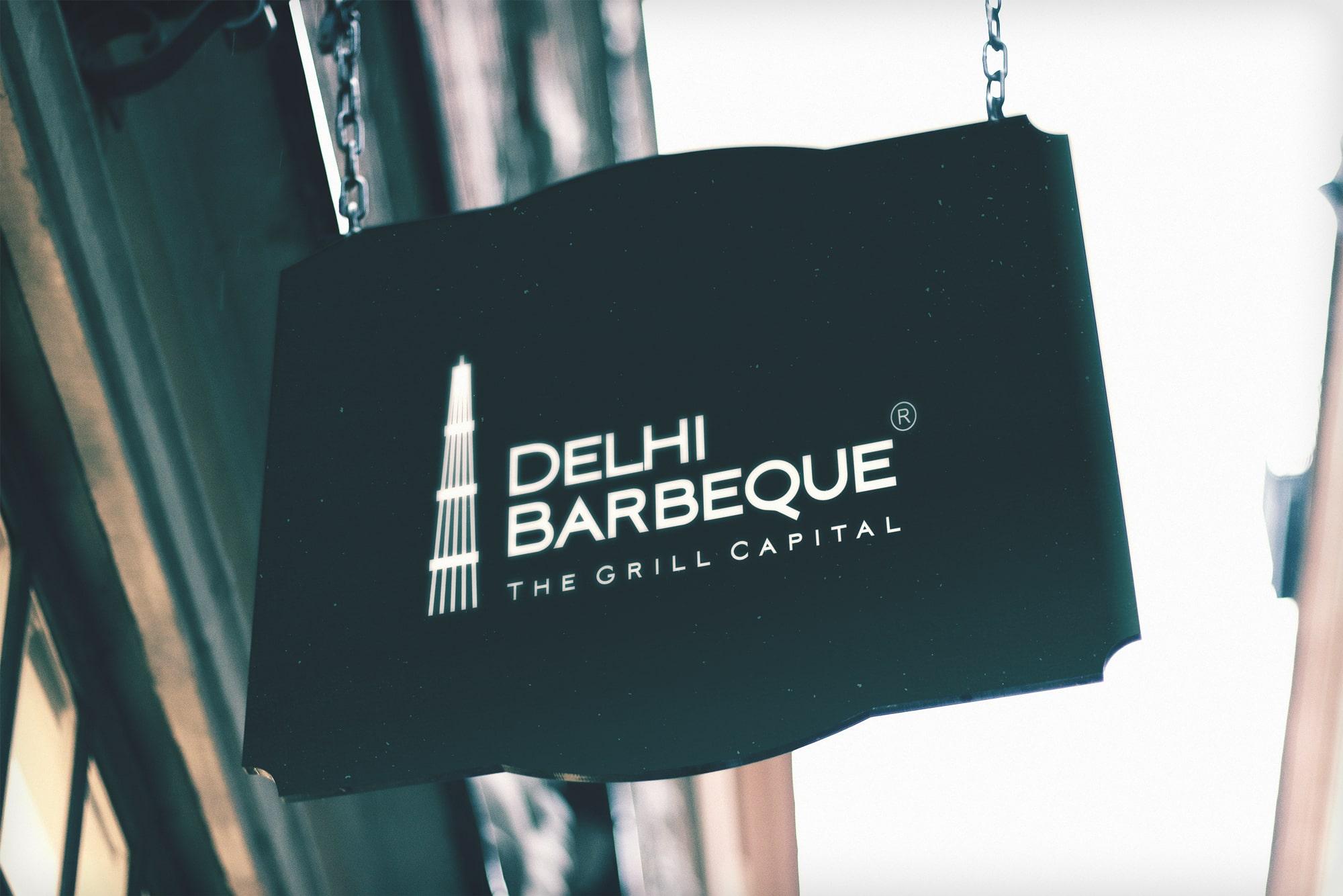 Delhi Barbeque Logo Mockup