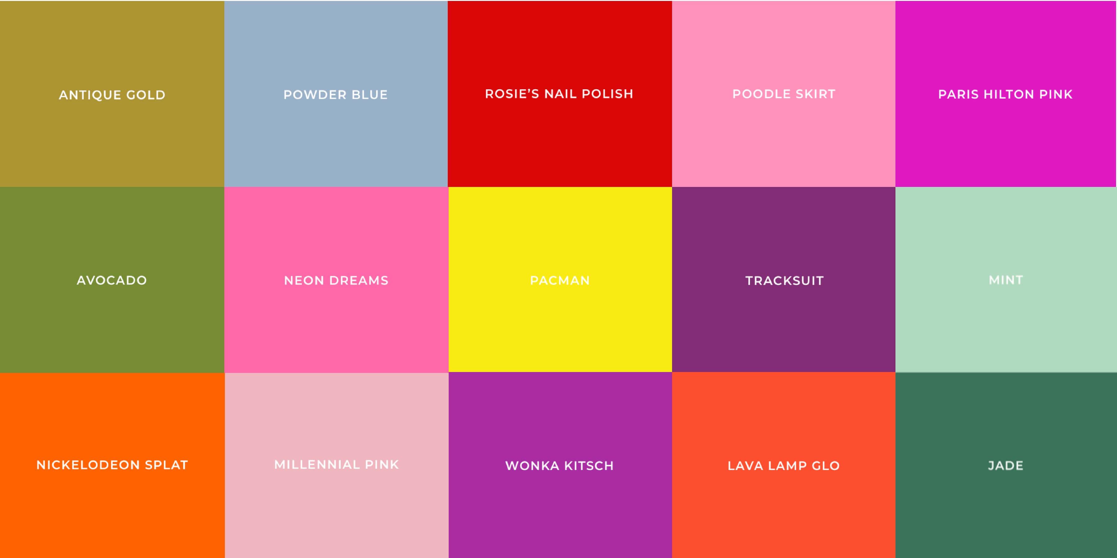 Die Farben der Zeit - 20er Jahre bis heute