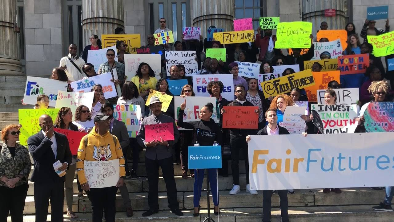 Brooklyn Borough President Eric Adams joined child welfare advocates for a virtual rally. Credit: Fair Futures