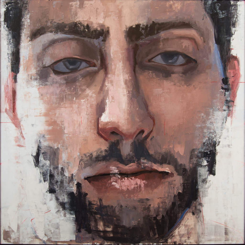 Saria (SyrianSaria (Syrian Immigrant),  Oil on Panel 48 x 48 inches Immigrant), 2017, Oil on Panel, 48 x 48 inches