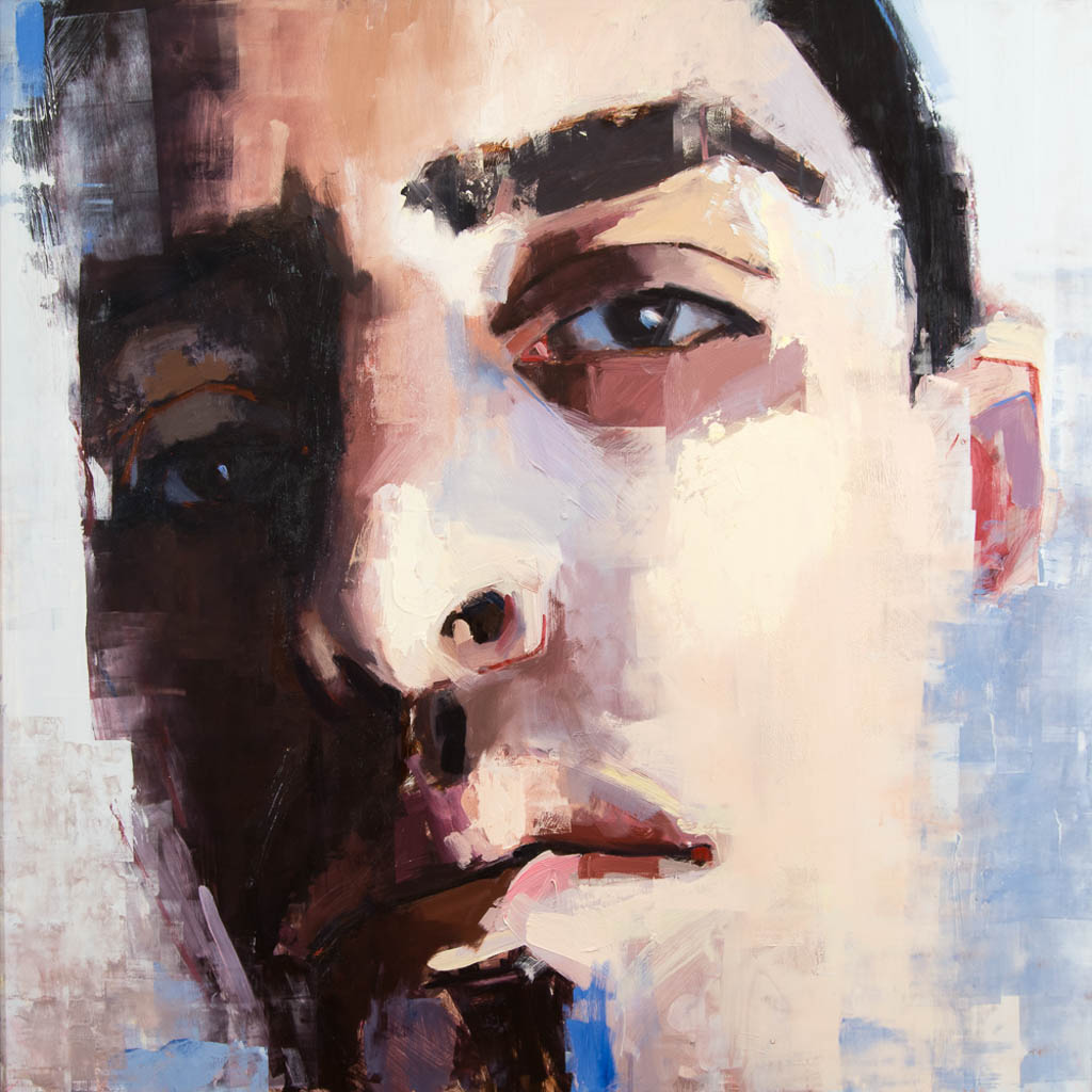 Bernardo (Gay Latin Immigrant), Oil on Panel 48 x 48 inches