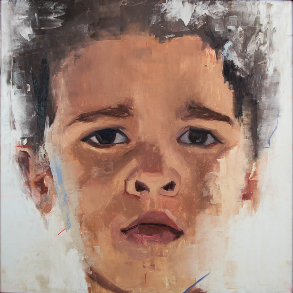 Austin (Of Mixed Race), 2017, Oil on Panel, 48 x 48 inches