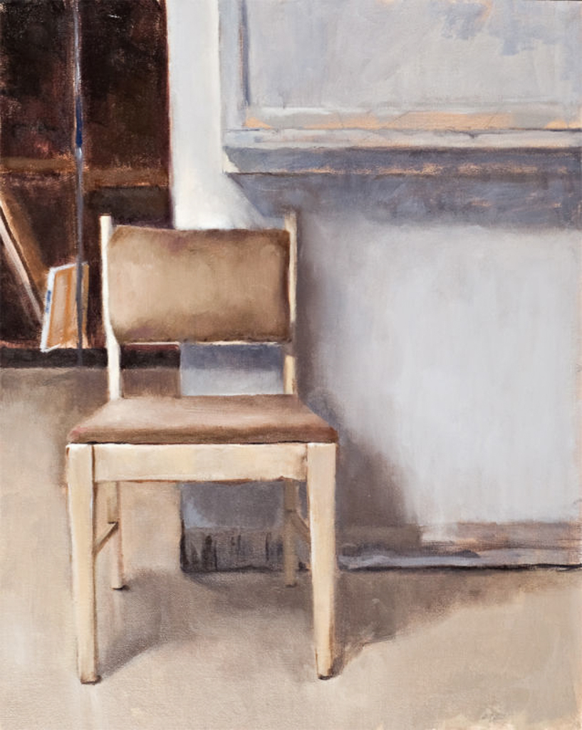 Studio Chair, 20x16 in., Oil on Panel