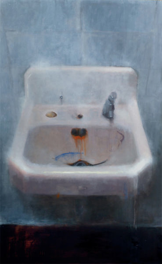 Sink Under Window, 48x36 in., Oil on Panel