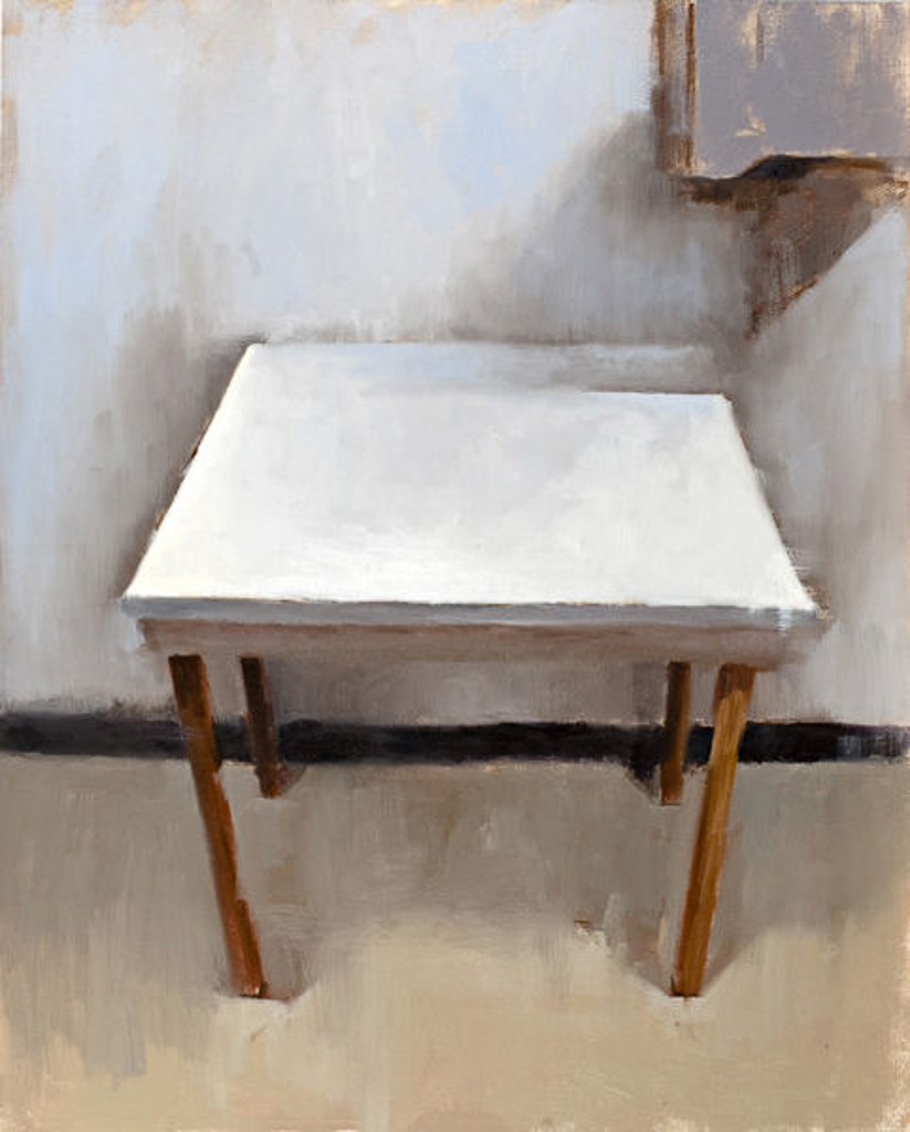 White Table, 20x16 in., Oil on Panel