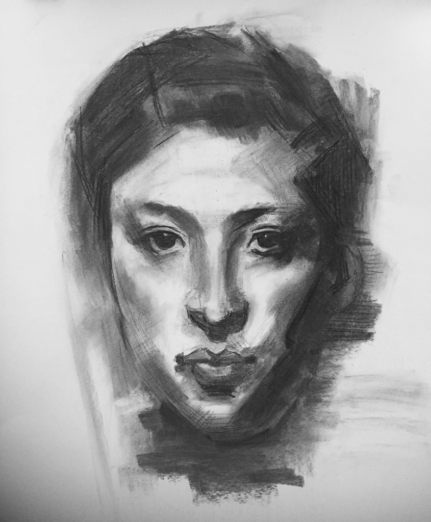 Master Copy, Charcoal on Paper