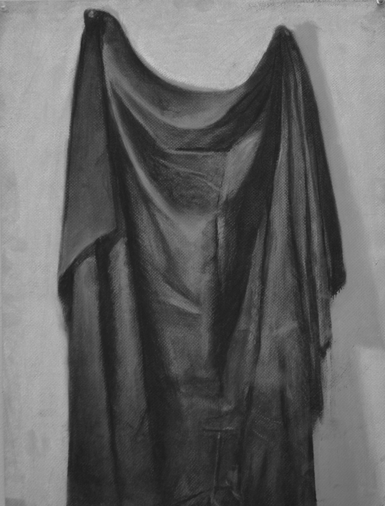 Cloth Study, Charcoal on Paper