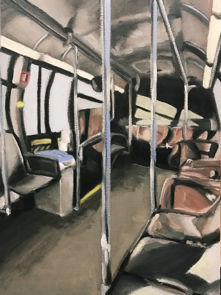 Interior Space, Oil on Panel