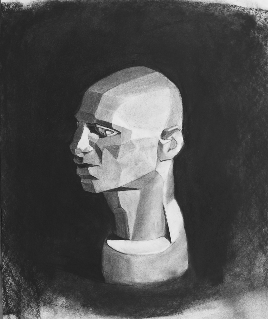Cast Study, Charcoal on Paper