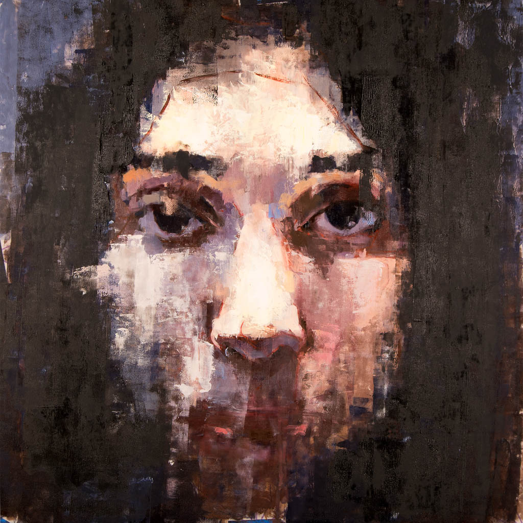Lara (Saudi Muslim Woman), 2016, Oil on Mylar, 24 x 24 inches