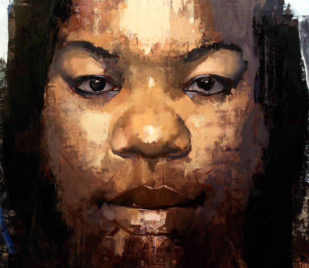 Kristen (Female African American), 2017, Oil on Panel, 36 x 36 inches