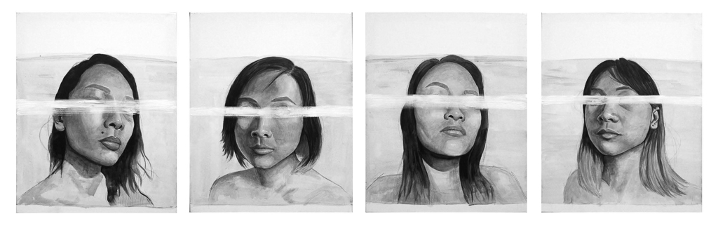 Project: Cultural Identity, Charcoal and Pencil on Paper