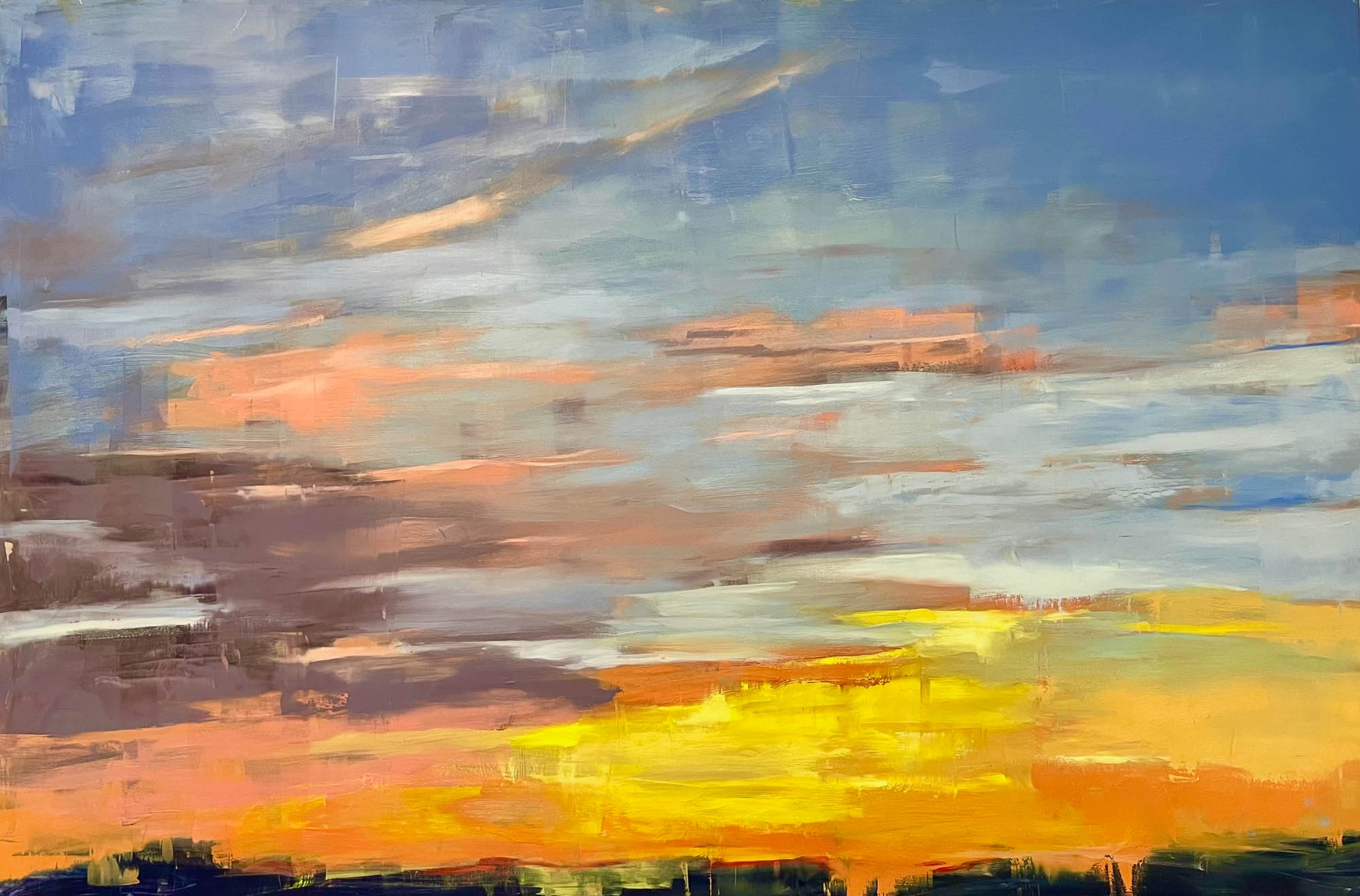 Sunrise 01, 2021, Oil on Panel, 24x36 inches