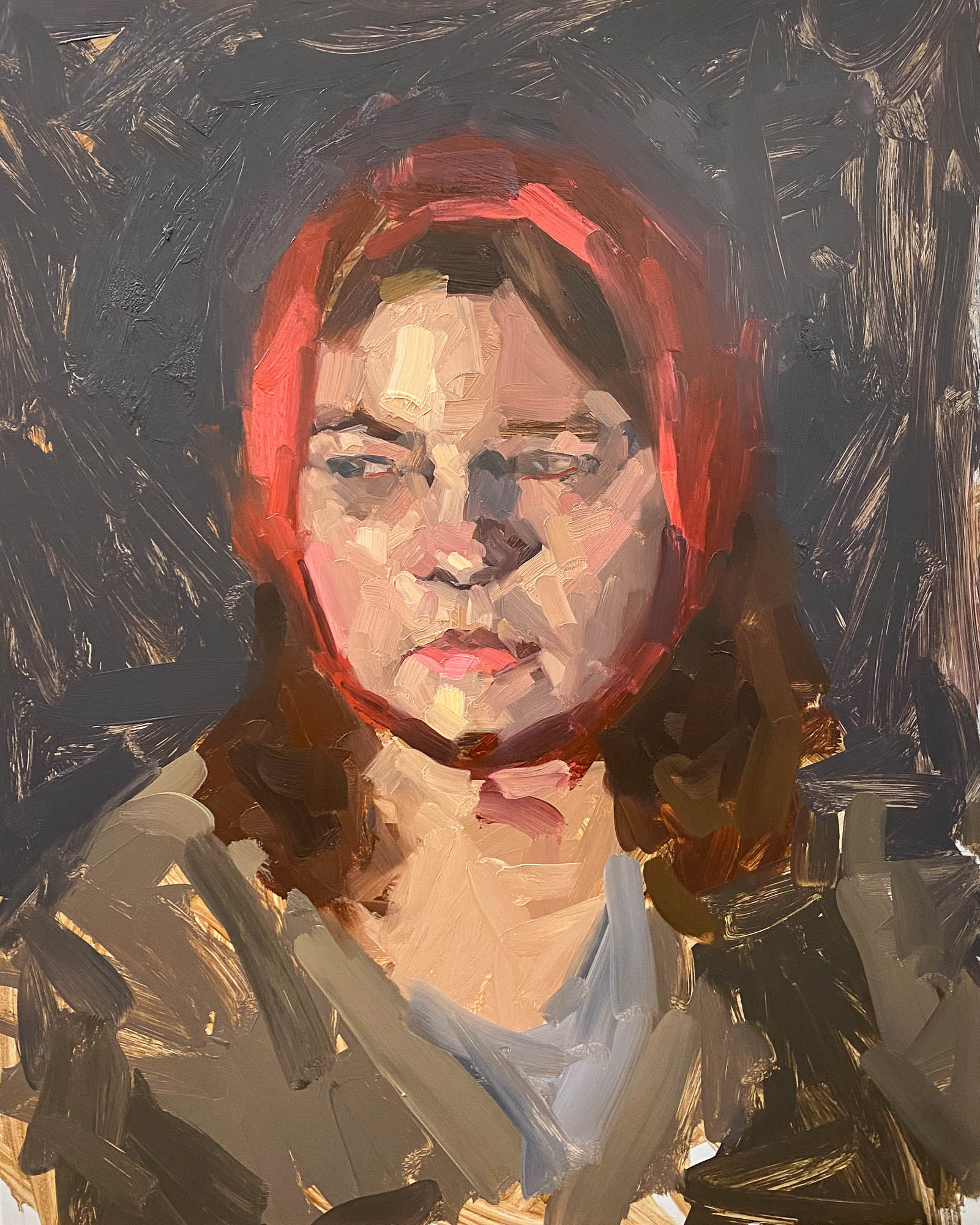 Portrait of a Girl, 2021, Oil on Panel, 20 x 16 inches
