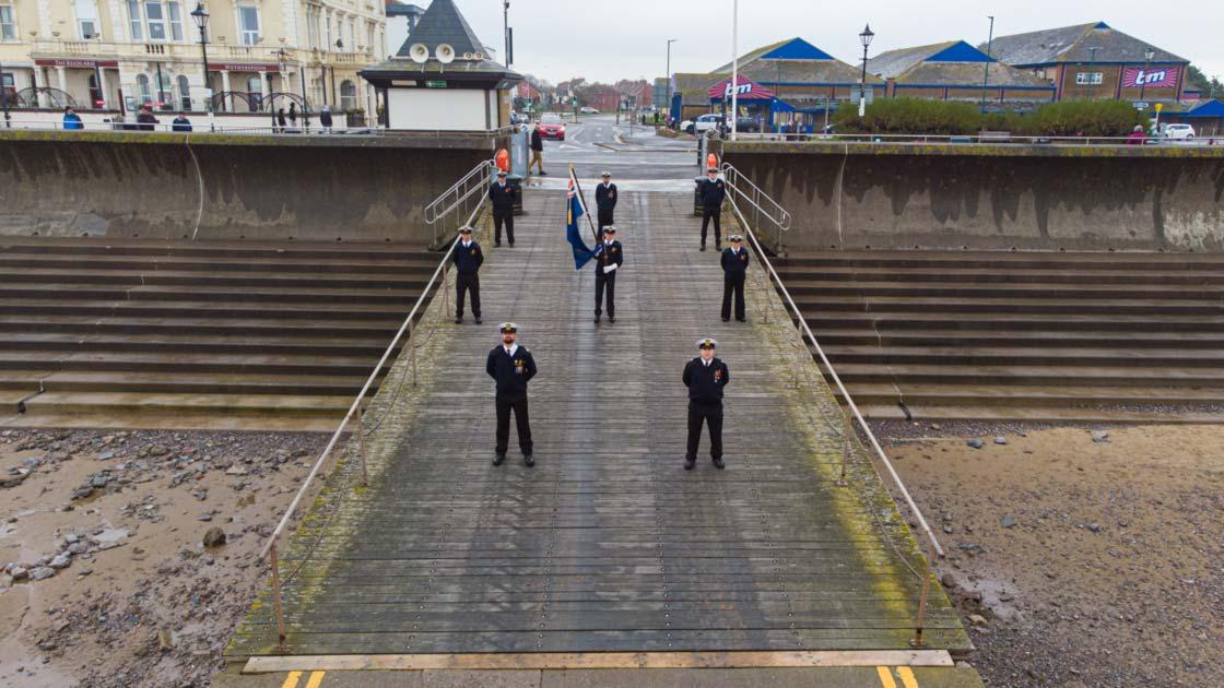 Promotional drone photo of the coastguard
