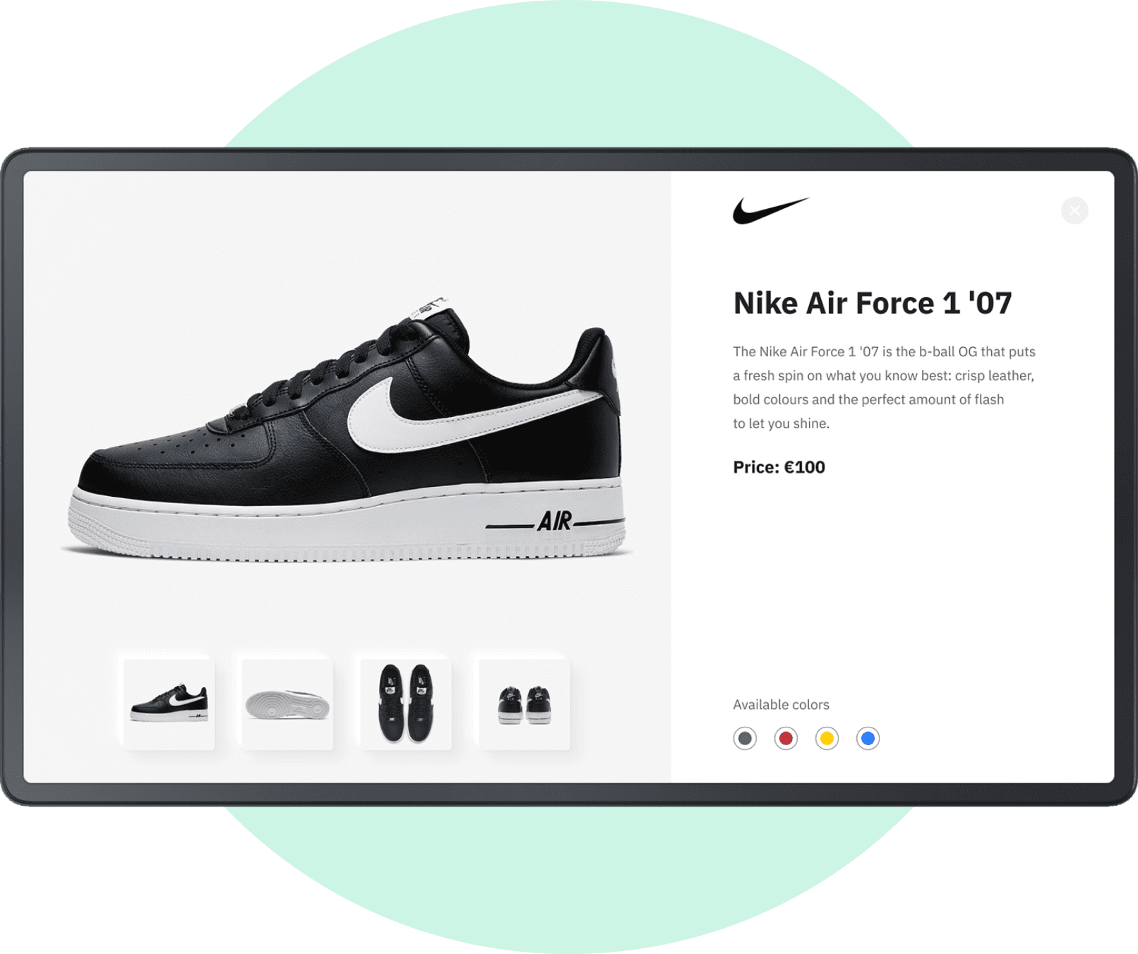 Features Layouts with NIKE case