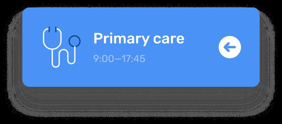 Healthacare navigation blue