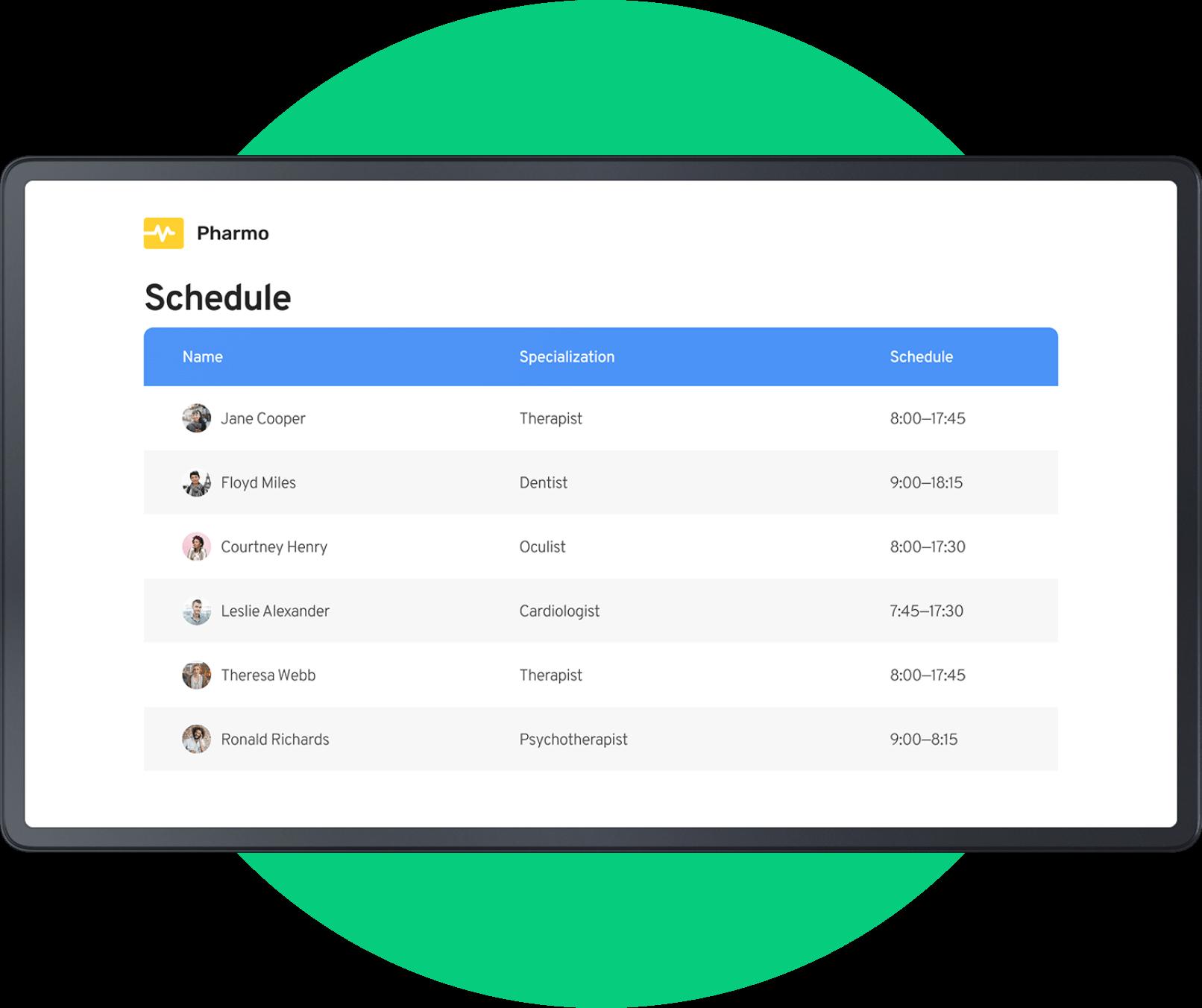 Statoscope schedule