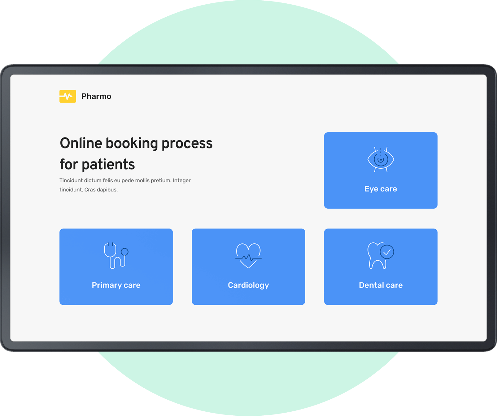 Healthcare booking