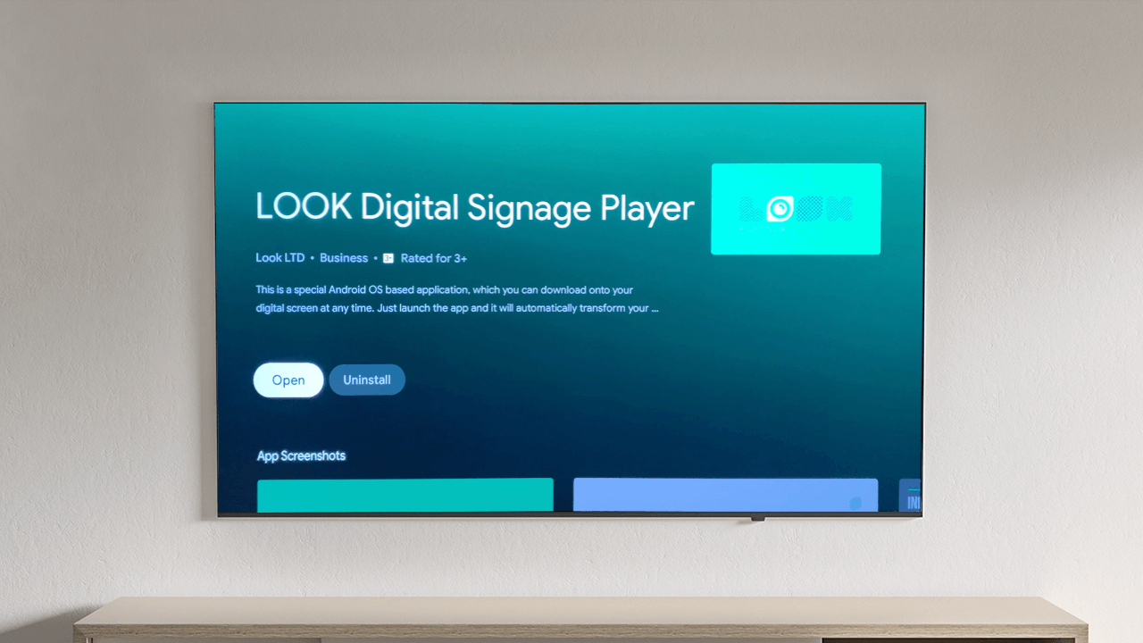 LOOK APP Player completely support Android TV