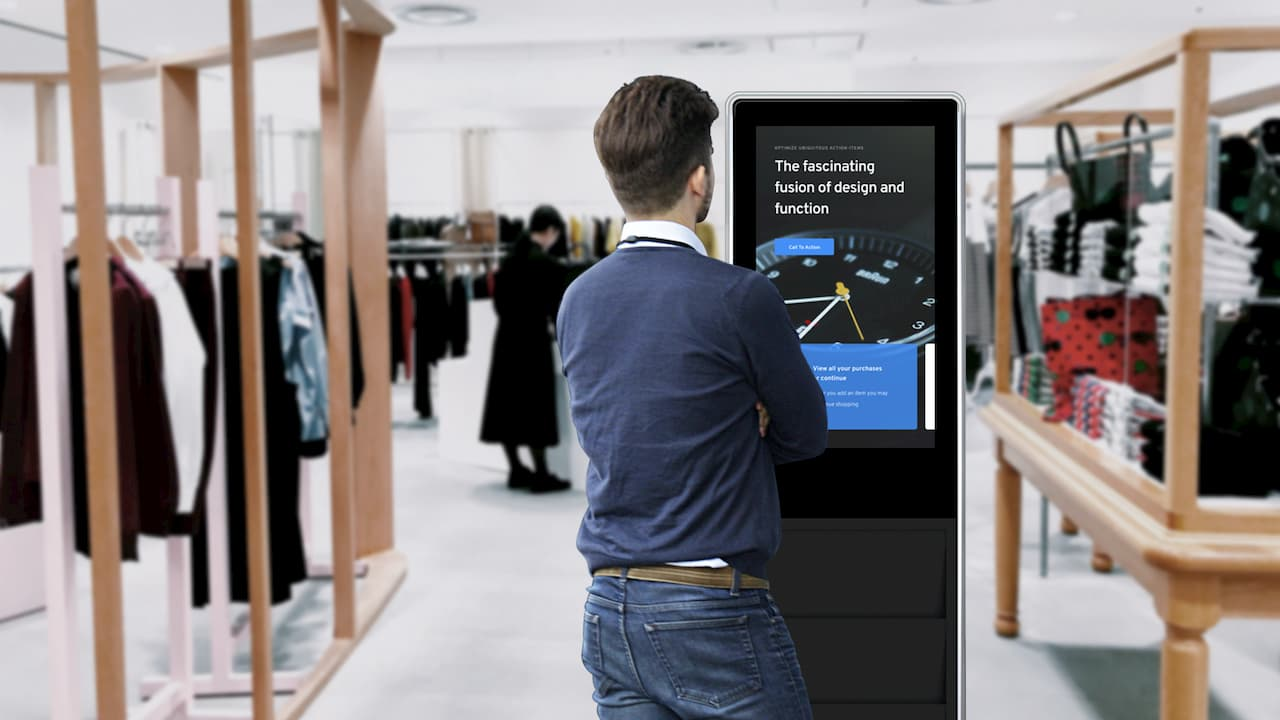 Interactive Digital Signage kiosk