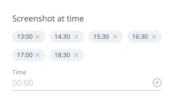 screenshot schedule