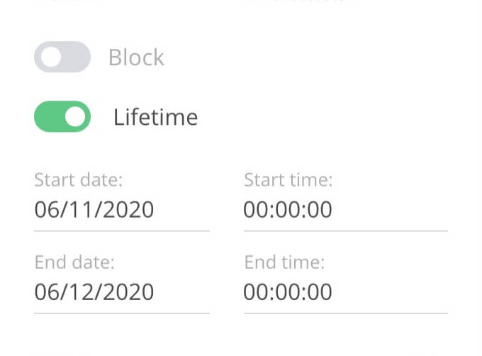 Content Blocking and Lifetime