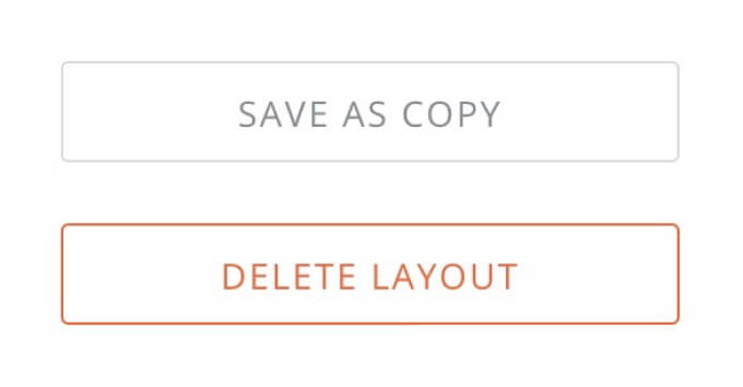 save or delete layout