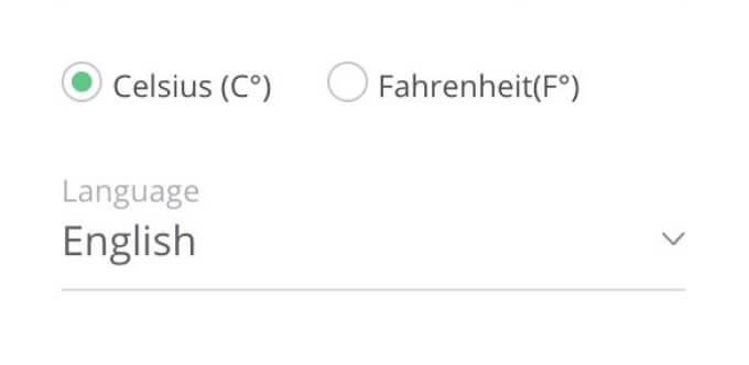 Celsius or Fahrenheit