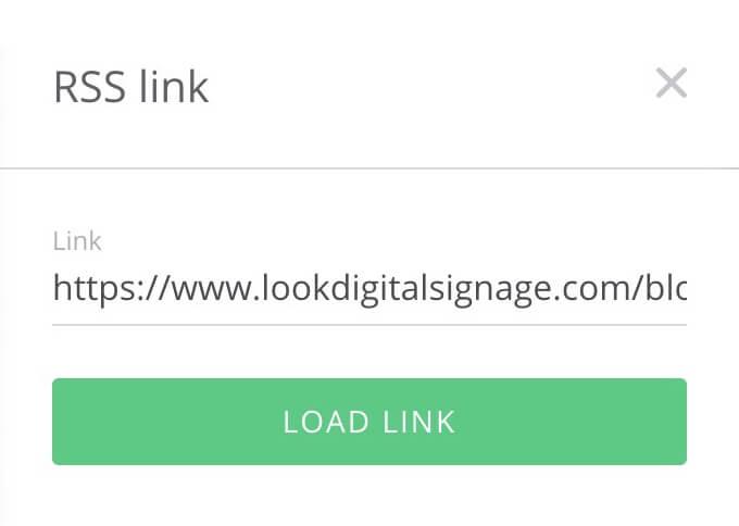 load rss link