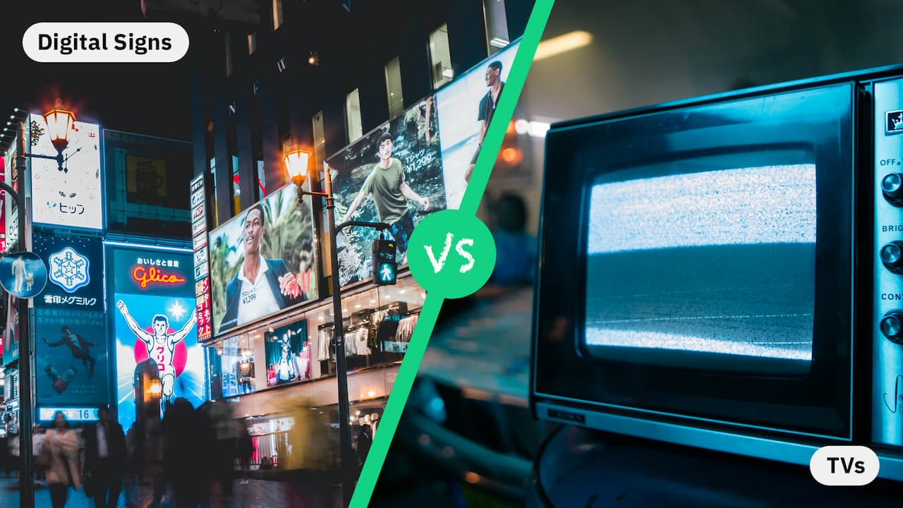 Digital Signs vs. TVs: What is The Difference and What to Choose?