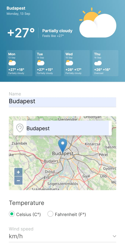 Weather 2.0 DS App