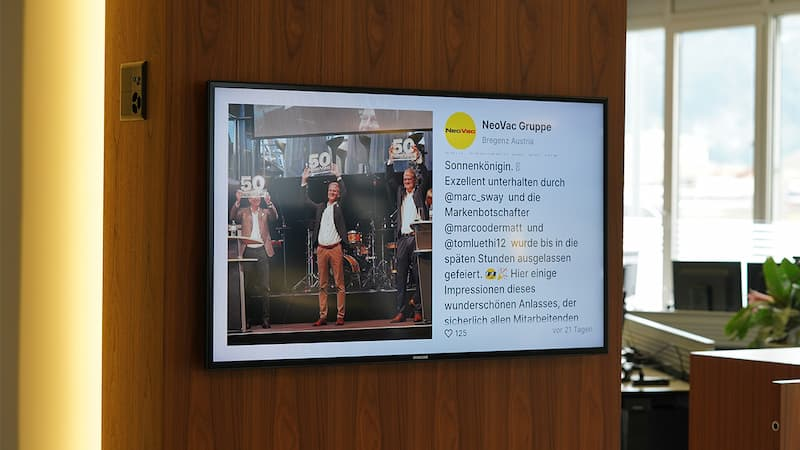 NeoVac Group - Digital signage use case from Corporate industry!