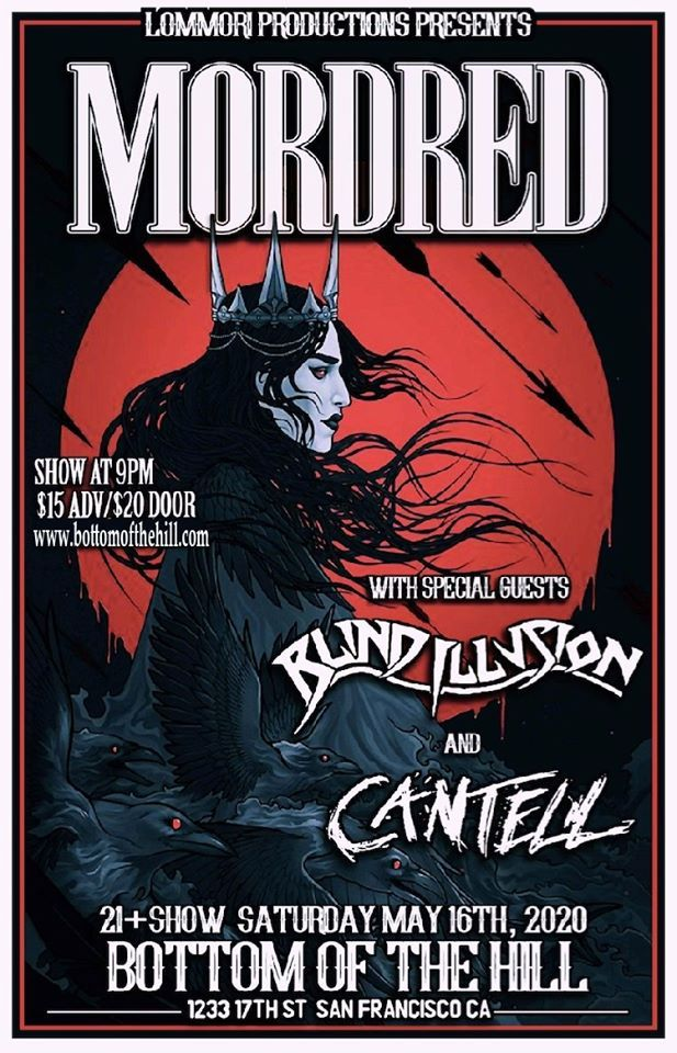 Show poster of woman with crown in front of red moon