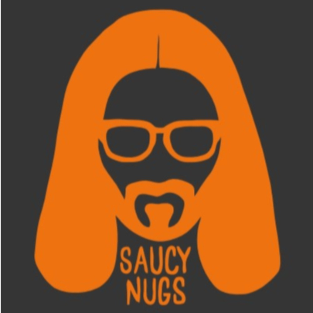 Saucy Nugs T-Shirt with Official Logo Close Up