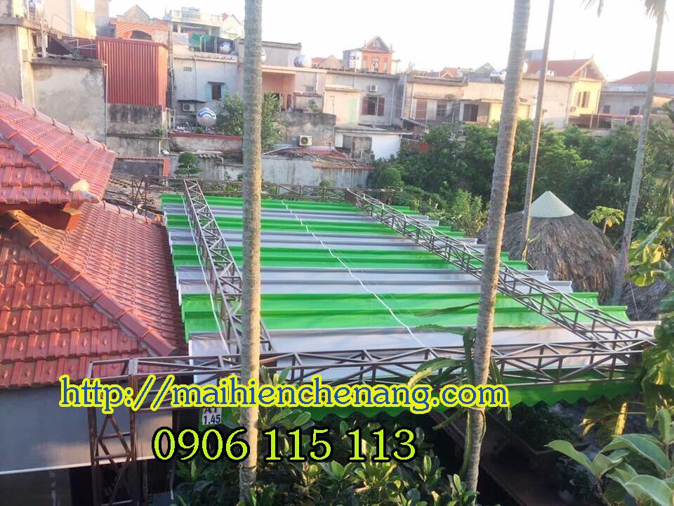 Mái hiên di động giá bao nhiêu tiền 1m   Mái hiên giá rẻ Quán Cafe tại Đắk Lắk , Đắk Nông Giá Rẻ
