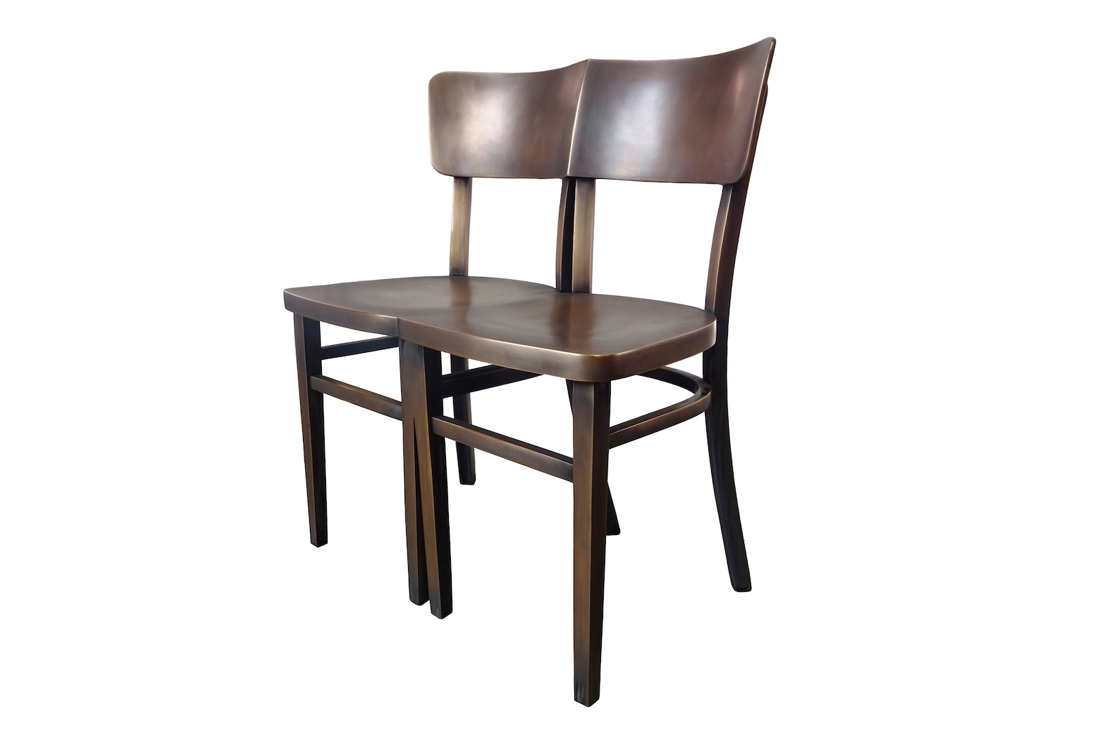 Patinated Crossed Leg Chair