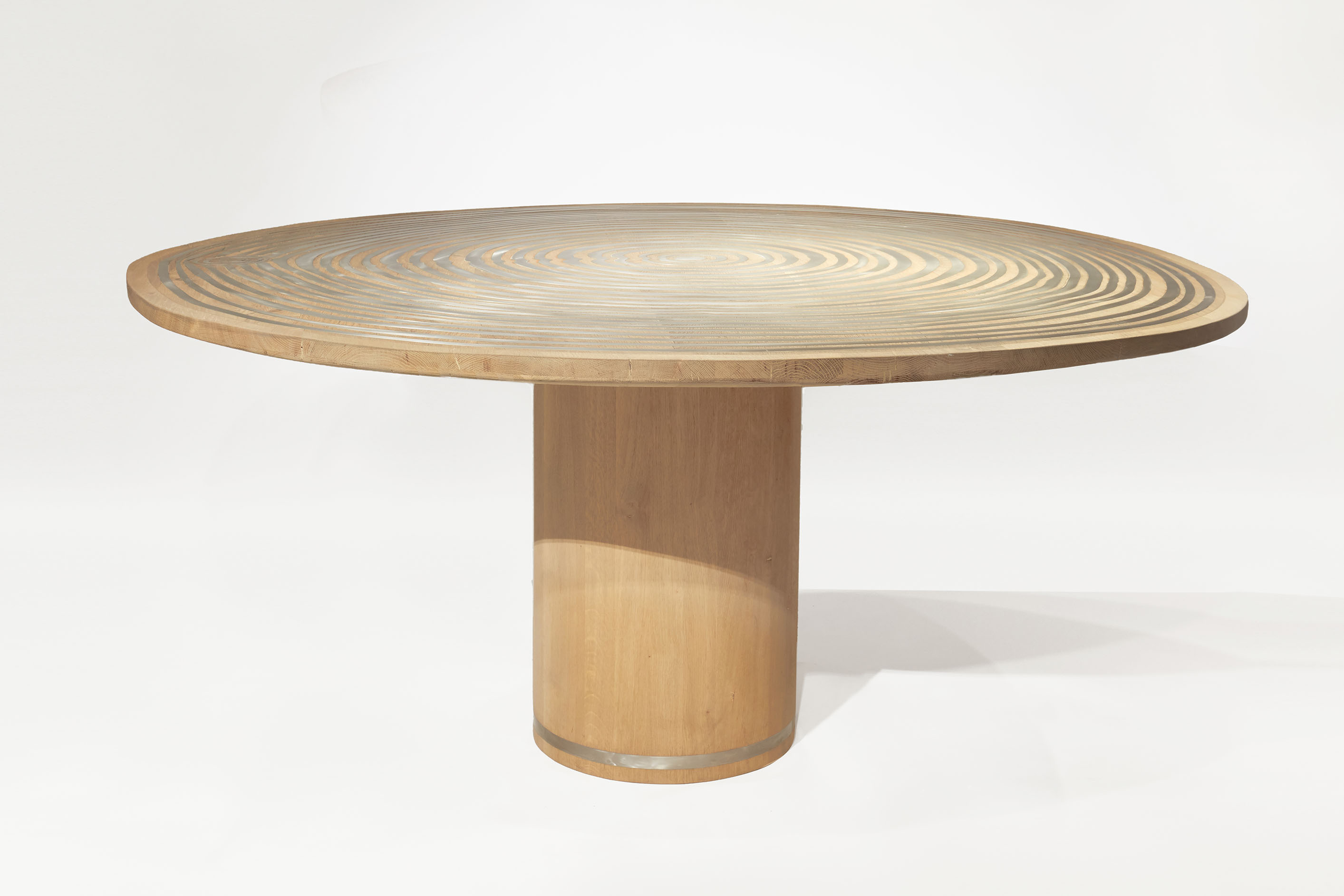 Incontro Dining Table (Steel on Oak)