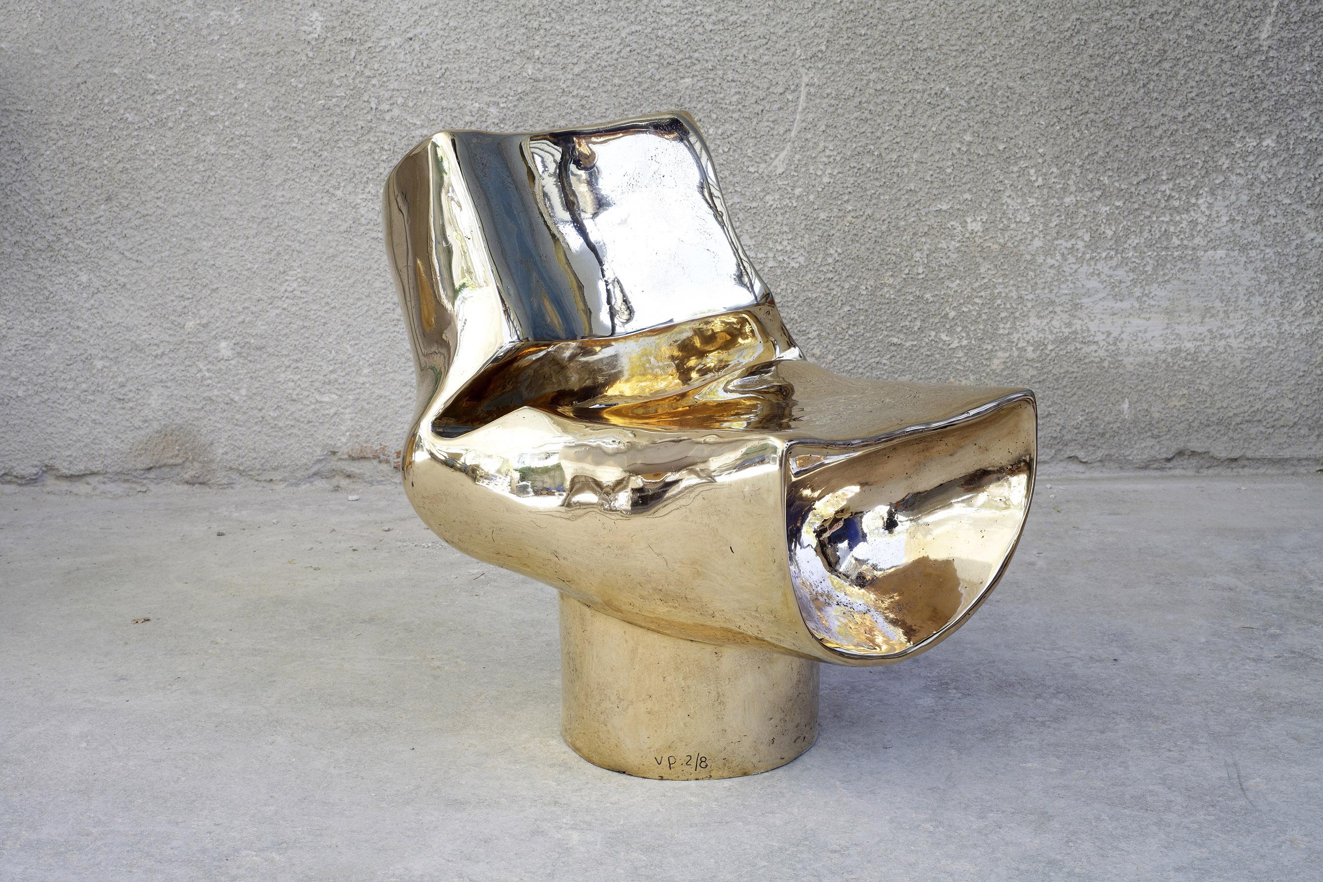 Bent Half Tube Chair Bronze