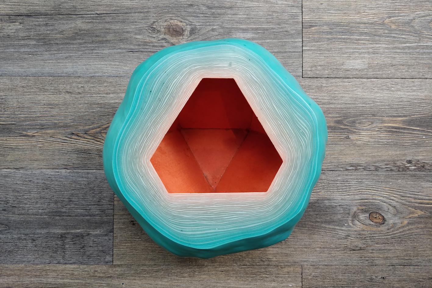 Fuzz Bowl Geometric / Turquoise Red